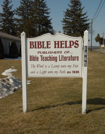 Bible Helps sign