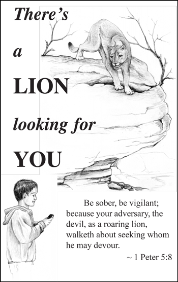 There's a lion looking for you
