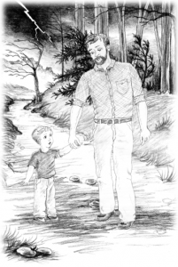 picture of father and little boy