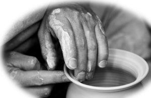 a potter's hands